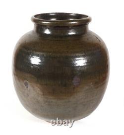 Handsome Vintage Paul Volckening American Studio Art Pottery Vase Midcentury Mod