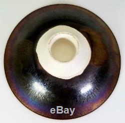 Hideaki Miyamura Vintage Japanese American Studio Art Pottery Iridescent Bowl