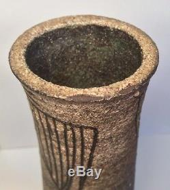 Jaap Dommisse VASE Dutch Studio Pottery Incised Signed Netherlands Vtg c. 1960s