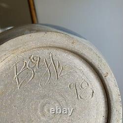 Jack Boyle Studio Pottery Jars Kitchen Storage Flour Sugar Vintage Signed
