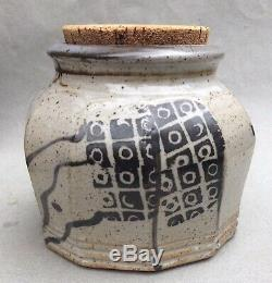 John Glick Faceted Jar With Cork Studio Pottery Cranbrook Mcm Vtg Plum Tree