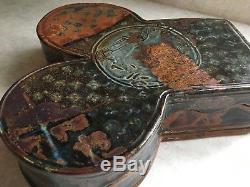 John Glick Large Pottery Box Vintage Studio Pottery