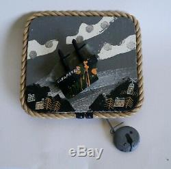 John Maltby Automata vintage seascape extremely rare version of swing boat