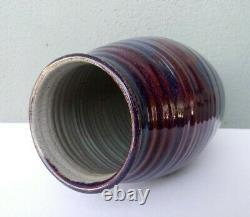 Jt Abernathy Original Vintage Studio Art Pottery Vase 9 5/8 Michigan