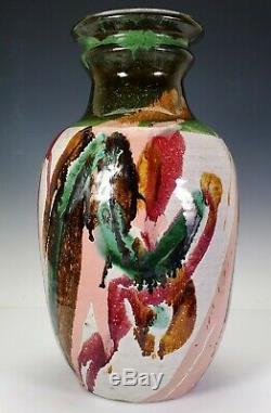 KA-KWONG HUI (American, 1922-2003) VINTAGE MODERNIST STUDIO ART POTTERY VASE