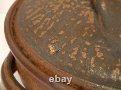 Karen Karnes Vintage Studio Art Pottery Large Casserole Dish Oven Or Stove Top