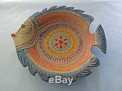 Keramik Schale Fisch Studio Italy Bitossi Style 50s 60s vintage pottery