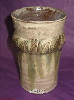 Klytie Pate Studio Vase Vintage Drip Glaze Australian Pottery
