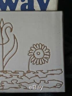 LARGE RARE MCM Vintage Martz Marshall Studios Pottery SEGRAFITTO TRIVET MINT