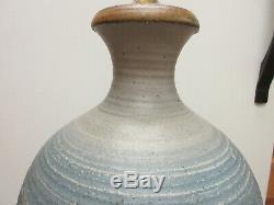 LARGE vintage MID CENTURY MODERNIST STUDIO ART POTTERY LAMP KINZIE CRESSEY STYLE