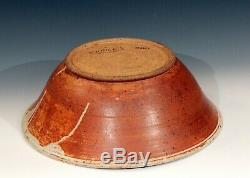 Large Centerpiece Fruit Bowl Vintage Country Farmhouse Studio Pottery Huge 17