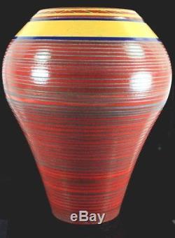 Large Impressive Vintage Studio Art Pottery Gallery Vase Impressed Makers Mark