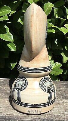 Large Old Vintage Retro Midcentury Slip Cast Studio Pottery Vase Unknown Mark