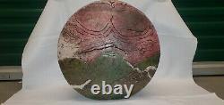 Large Raku Vase Sculpture 1980s Vintage Studio Pottery