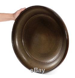 Large Vintage 1970 Bernard Ben Kypridakis California Studio Pottery Bowl 15 3/4