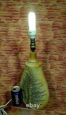 Large Vintage Bernard Rooke Lamp Base. MID Century Modern Stoneware