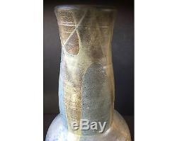 Large Vintage Hedley BC Canadian Studio Pottery Vase Signed RB BJS