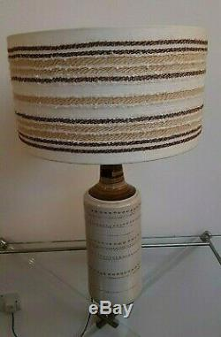 Large Vintage Lamp Base Retro Studio Pottery Italian Raymor / Bitossi & Shade