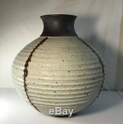 Large Vintage MCM MID Century Modern Studio Pottery Vase Signed MMC
