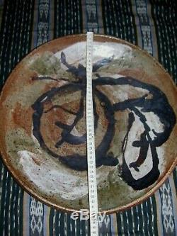 Large Vintage MILTON MOON Charger- 42.5 cm Diametre Australian Studio Pottery