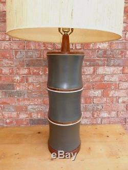 Large Vintage Mid Century Modern Martz Marshall Studios Ceramic Lamp Base