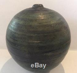 Large Vintage Mid Century Modern Moon Pot Studio Art Pottery Vase Toshiko Era