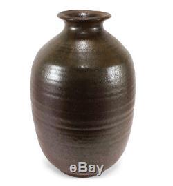 Large Vintage Minoru Nojima Studio Art Pottery Vase Berkeley California Artist