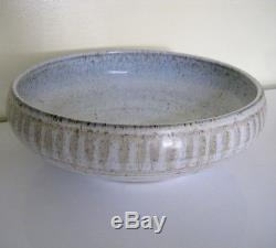 Large Vintage ROBERT MAXWELL bowl, California studio pottery midCentury