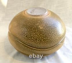 Large Vintage Randy Brodnax Studio Art Pottery Bowl/Pot Brown