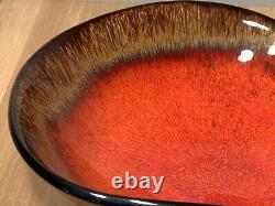 Large Vintage Vallauris Mid Century French Studio Pottery Free Form Bowl 1960's
