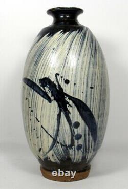 Large Vintage Wayne Ngan Studio Canadian Art Pottery Vase Signed