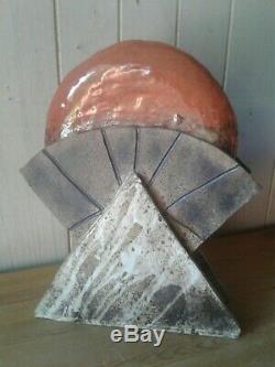 Large vintage'Brighton Studio' art pottery abstract sculpture