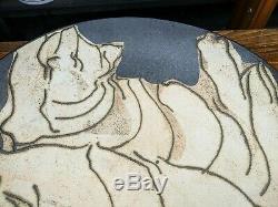 Laurel Keeley Studio Pottery Vintage Scraffito Art Bowl