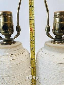 Lee Rosen Design Technics Mid Century Vintage Studio Pottery Ceramic Lamps