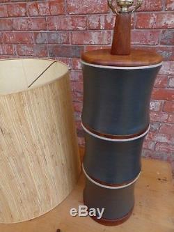 Lg 41 Vintage Mid Century Modern Martz Marshall Studios Ceramic Lamp Orig Shade