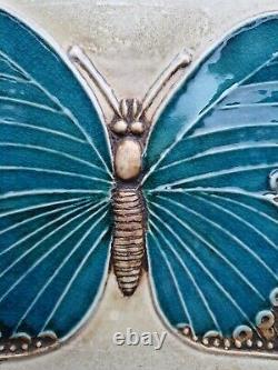 Lisa Larson ceramic butterfly wall plaque Fjärilar Swedish MCM vintage Sweden
