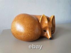 Lisa Larson fox Gustavsberg original vintage ceramic Swedish Mid-century MCM