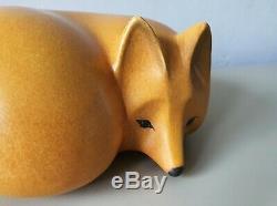 Lisa Larson fox sculpture vintage Swedish mid-century art Gustavsberg Skansen