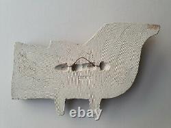 Lisa Larson rare bird wall plaque fagel Swedish mid-century Gustavsberg vintage