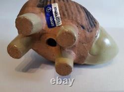 Lisa Larson rhino Gustavsberg Menageri vintage ceramic figurine Swedish art MCM