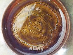 MARY & EDWIN SCHEIER Vintage SHALLOW STUDIO POTTERY BOWL 2 Faces