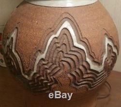 MCM CALIFORNIA SURFER table lamp vtg studio art pottery laguna beach tim hahne