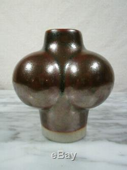 MCM Vintage Studio Pottery Tue Poulsen Denmark 60's Op Art