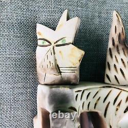 MCM atomic pottery Cat Fireworks Studio sculpture statue 8 artisan vintage