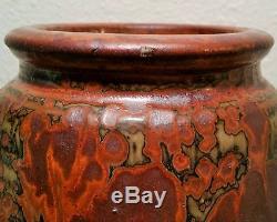 MONSTER 8.5 louis mideke mcm vtg studio art pottery rust vase seattle bremerton