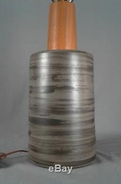 Martz Marshall Studios Lamp, Vintage Large! MID Century Danish Modern Ceramic