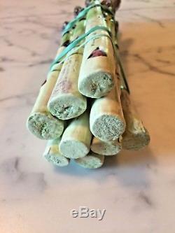 Mary Kirk Kelly 9 Asparagus Stalks Signed Handmade Studio Pottery Vintage