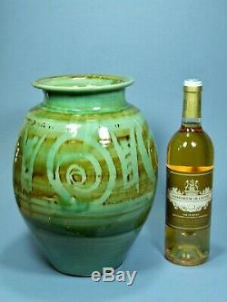 Massive Vintage Exhibition Cricklade Studio Pottery Vase Ivan Martin MID Century