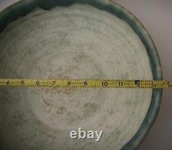 McCarty Jade Merigold Vtg Studio Pottery Mississippi Mud Large Bowl Nutmeg 13.5