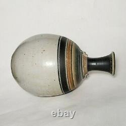 Michael Sherrill Studio Pottery Bottle Handmade Wheel Thrown Stoneware VTG 70s